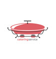 catering service logo template catring dish icon vector image