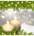 Christmas Background with Candles vector image vector image