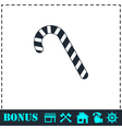 Christmas peppermint candy cane icon flat vector image vector image