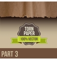 Collection of white torn paper vector image vector image