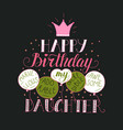 color birthday card for daughter vector image vector image