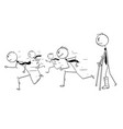 conceptual cartoon of businessman with broken leg vector image vector image