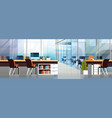 coworking office interior modern center creative vector image vector image