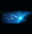 creative of flying cosmic vector image vector image
