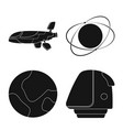 design of mars and space logo collection vector image vector image