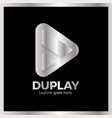 double triangle media play vector image vector image