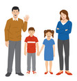 family set cartoon style vector image vector image