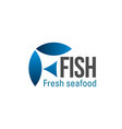 fish and seafood icon vector image
