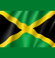 flag jamaica realistic icon vector image