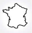france map simplified outline vector image vector image