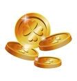 gold coins clover st patrick day vector image vector image