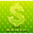 Green dollar sign on pattern background vector image vector image