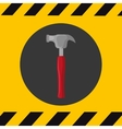 hammer construction tools vector image vector image