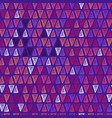 hand drawn triangle seamless pattern in purple vector image