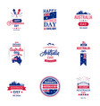 happy australia day typography design collection vector image vector image