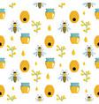 honey cartoon seamless pattern vector image