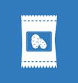 Icon potato seeds vector image
