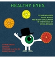 Info about the benefits of citrus for eyesight vector image vector image