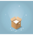 Isometric mail service vector image vector image