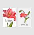 lily watercolor realistic elements - garden vector image vector image