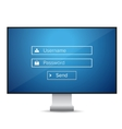 login form blue vector image