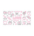 love concept horizontal outline vector image vector image