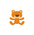 lovely brown teddy bear toy symbol icon vector image vector image