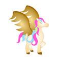 majestic pegasus fantasy creature vector image vector image