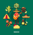 mexico travel vector image vector image