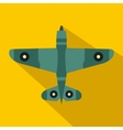 Military fighter jet icon flat style vector image vector image