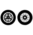 Motorbike wheels vector image vector image