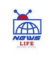 news life logo original design social mass media vector image vector image