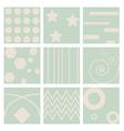nine retro seamless pattern vector image vector image