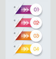 number option banners design can be used vector image vector image