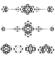 Ottoman motifs design series with seventeen vector image vector image