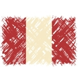Peruvian grunge flag vector image vector image