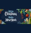 poster horizontal merry christmas happy new year vector image vector image