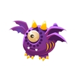 Purple Fantastic Friendly Pet Dragon With Four vector image vector image