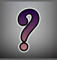 question mark sign violet gradient icon vector image