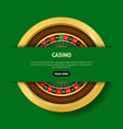 realistic detailed 3d round casino roulette banner vector image