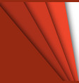 red paper overlapping abstract background vector image vector image