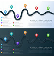 road way location infographic template with pin vector image