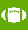 rugby ball icon green vector image vector image