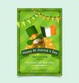 saint patrick s day poster brochure holiday vector image