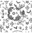 seamless background with angels demons and crosse vector image vector image