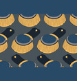 seamless pattern with officer epaulettes vector image vector image