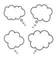 set comic style speech bubbles empty thinking vector image vector image