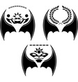 set of dragon wings vector image vector image