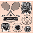 set of emblems on big tennis vector image vector image