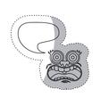 sticker contour face cartoon gesture with dialogue vector image